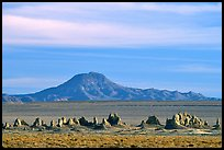 Trona Pinnacles and Mountains, late afternoon. California, USA (color)