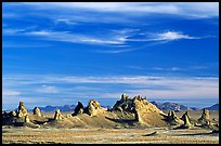 Tufa towers, Trona Pinnacles, late afternoon. California, USA (color)