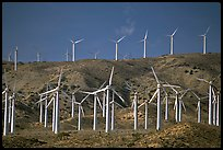 Electricity-generating Windmills, Horned Toad Hills near Mojave. California, USA ( color)