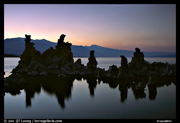 Tufa towers, dusk. Mono Lake, California, USA (color)