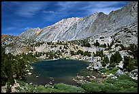 Small Lake, mountain, and fisherman, Inyo National Forest. California, USA ( color)