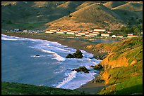 Fort Cronkhite and Rodeo Beach, late afternoon. California, USA ( color)