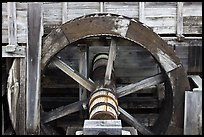 Close up of high breastshot wheel, Saugus Iron Works National Historic Site. Massachussets, USA (color)