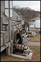 Forge building and river, Saugus Iron Works National Historic Site. Massachussets, USA (color)