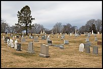 Lawn cemetery. Salem, Massachussets, USA (color)