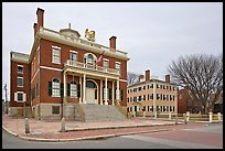 Custom House and Hawkes House, Salem Maritime National Historic Site. Salem, Massachussets, USA ( color)
