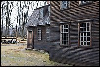 Hartwell Tavern in winter, Minute Man National Historical Park. Massachussets, USA (color)