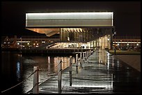 Museum of Contemporary Art (MOCA) at night. Boston, Massachussets, USA (color)