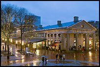 Faneuil Hall Marketplace at dusk. Boston, Massachussets, USA (color)