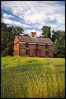 Historic house, Minute Man National Historical Park. Massachussets, USA (color)