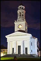 First Parish at night, Concord. Massachussets, USA ( color)