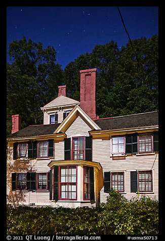 Wayside, home to Louisa May Alcott, Nathaniel Hawthorne, and Margaret Sidney.. Massachussets, USA