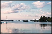 Moosehead Lake, sunset, Greenville. Maine, USA (color)