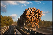 Truck carrying logs, Abol bridge. Maine, USA ( color)