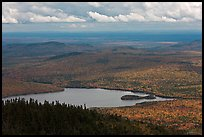 Katahdin Lake in the distance. Baxter State Park, Maine, USA ( color)