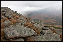 Boulders and rain showers, from South Turner Mountain. Baxter State Park, Maine, USA ( color)
