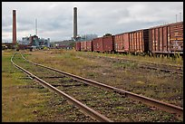 Railroad and mill, Millinocket. Maine, USA ( color)