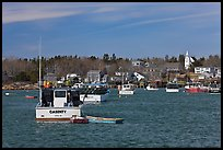 Traditional lobster fishing harbor. Corea, Maine, USA ( color)