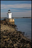 Bug Light lighthouse at the harbor entrance. Portland, Maine, USA