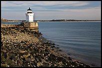 Bug Light and breakwater. Portland, Maine, USA