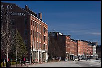 Historic brick buildings near waterfront. Portland, Maine, USA ( color)