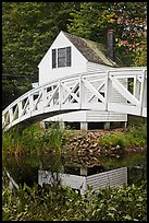 House and arched bridge. Maine, USA ( color)
