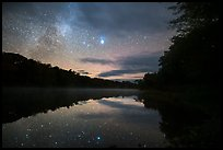 East Branch Penobscot River from Lunksoos Camp with stars. Katahdin Woods and Waters National Monument, Maine, USA ( )
