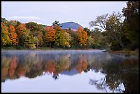 Desey Mountain reflected in East Branch Penobscot River. Katahdin Woods and Waters National Monument, Maine, USA ( )