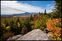 Baxter State Park from from Barnard Mountain in autumn. Katahdin Woods and Waters National Monument, Maine, USA ( )