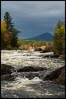 Haskell Rock Pitch of the East Branch Penobscot River, and Bald Mountain. Katahdin Woods and Waters National Monument, Maine, USA ( )