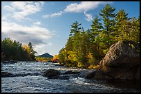 Bald Mountain and Haskell Rock, East Branch Penobscot River. Katahdin Woods and Waters National Monument, Maine, USA ( )