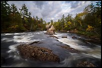 East Branch Penobscot River rapids and Haskell Rock. Katahdin Woods and Waters National Monument, Maine, USA ( )