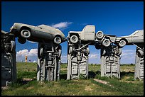Arches formed by welded cars, Carhenge. Alliance, Nebraska, USA ( color)