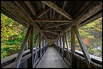Covered bridge seen from inside, Franconia Notch State Park. New Hampshire, USA (color)