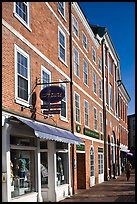 Brick buildings, market square. Portsmouth, New Hampshire, USA ( color)