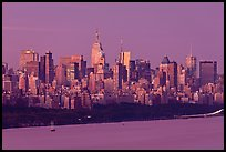 New York City skyline at sunrise. NYC, New York, USA ( color)