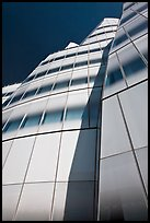 Looking up facade of IAC building. NYC, New York, USA (color)