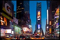 Times Square at dusk. NYC, New York, USA ( color)