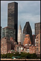 Trump World Tower and Chrysler Building. NYC, New York, USA (color)