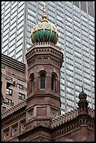 Central synagogue dome. NYC, New York, USA
