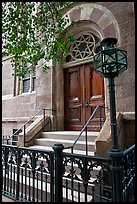 Central synagogue door. NYC, New York, USA