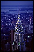 Chrysler building, seen from the Empire State building at dusk. NYC, New York, USA