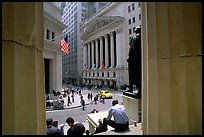 Wall Street stock exchange (NYSE). NYC, New York, USA (color)