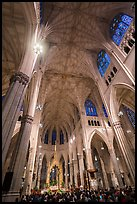 Easter Sunday mass in St Patricks Cathedral. NYC, New York, USA ( color)
