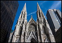 Front of St Patricks Cathedral. NYC, New York, USA ( color)
