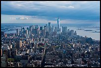 Downtown Manhattan skyline from Empire State Building. NYC, New York, USA ( color)