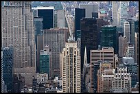 Midtown Manhattan with St Patricks Cathedral from Empire State Building. NYC, New York, USA ( color)