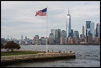 Manhattan skyline with One World Trade Center. NYC, New York, USA ( color)