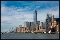 Lower Manhattan skyline with One WTC. NYC, New York, USA ( color)