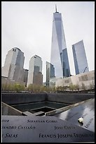 9/11 Memorial and World Trade Center. NYC, New York, USA ( color)